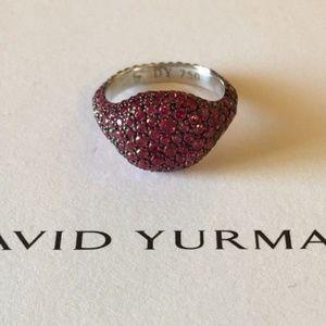 David Yurman Jewelry - David Yurman 18K Wht Gold Ruby Pinky Ring